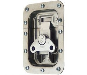 62-676M1SS: Rotary Turn Latch in Recess Dish Spring Loaded Stainless Steel