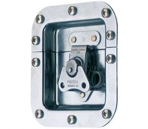 62-678M1MSZN: Rotary Turn Latch in Recess Dish Spring Loaded Mild Steel Zinc Plate Passivate