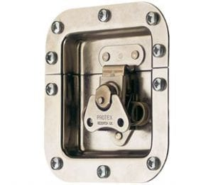 62-678M1SS: Rotary Turn Latch in Recess Dish Spring Loaded Stainless Steel