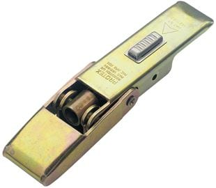 Adjustable Latch with Safety Catch Medium Duty Mild Steel Zinc Plate Passivate