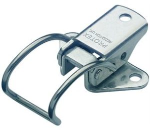 18-1345MSZN: Spring Claw Toggle Latch Light Duty Mild Steel Zinc Plate Passivate (Silver Blue)